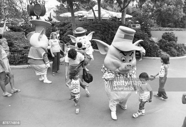 Disneyland Resort entertainment resort in Anaheim California Three Little Pigs and visitors