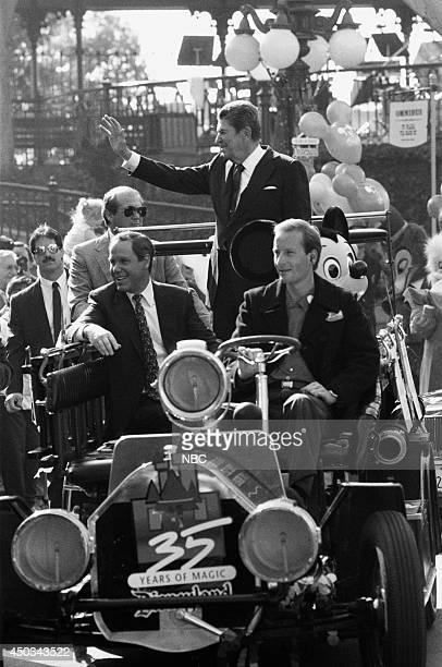 DISNEY Disneyland's 35th Anniversary Celebration Episode 15 Pictured Michael Eisner Ronald Reagan
