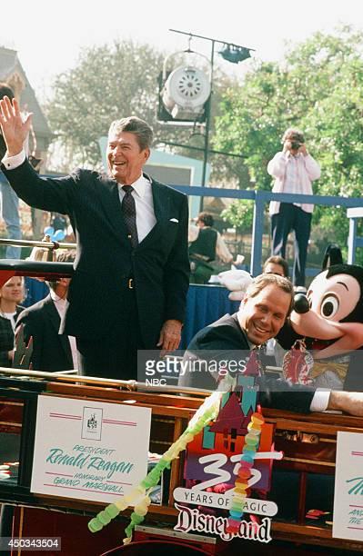 DISNEY Disneyland's 35th Anniversary Celebration Episode 15 Pictured Ronald Reagan Michael Eisner