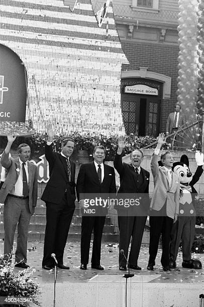 DISNEY Disneyland's 35th Anniversary Celebration Episode 15 Pictured Roy E Disney Michael Eisner Ronald Reagan Art Linkletter Robert Cummings