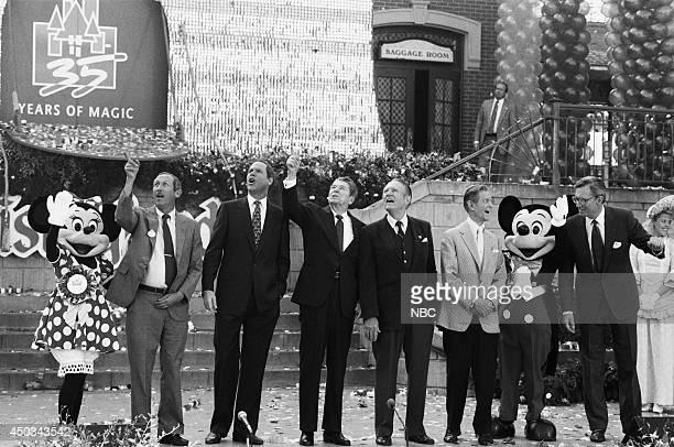 DISNEY Disneyland's 35th Anniversary Celebration Episode 15 Pictured Roy E Disney Michael Eisner Ronald Reagan Art Linkletter Robert Cummings Frank...