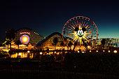 Disneys California Adventure Park with ferris wheel in background.