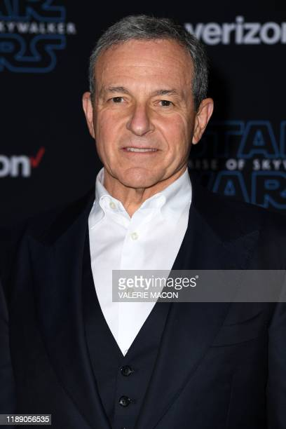 Disney's CEO Bob Iger arrives for the world premiere of Disney's Star Wars Rise of Skywalker at the TCL Chinese Theatre in Hollywood California on...