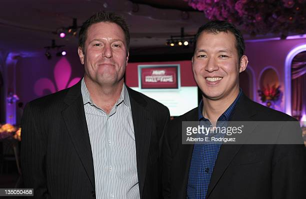 Disney's Kevin Mayer and Nintendo Sr Director GM Network Business for Nintendo Tony Elison attend the Variety Home Entertainment Hall of Fame Gala at...