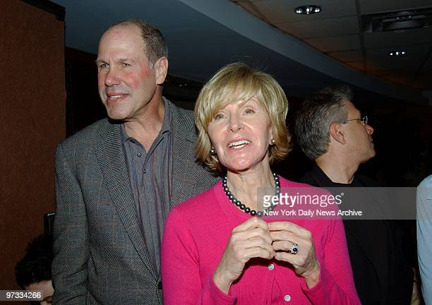 Disney's Michael Eisner and wife Jane are at ESPN Zone for a party celebrating ten years on Broadway for the musical Beauty and the Beast