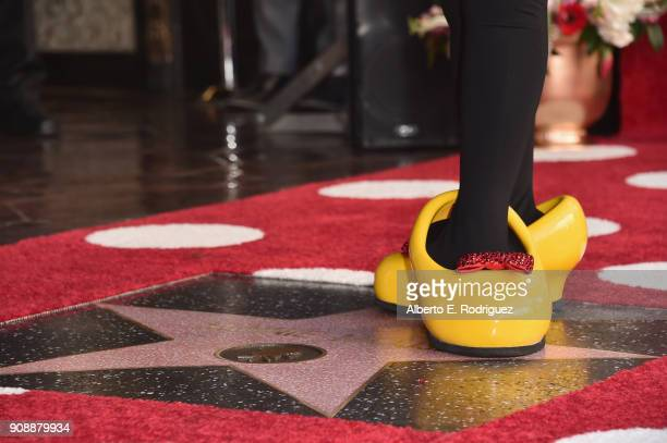 Disney's Minnie Mouse celebrates her 90th anniversary with a star on the Hollywood Walk of Fame on January 22 2018 in Hollywood California