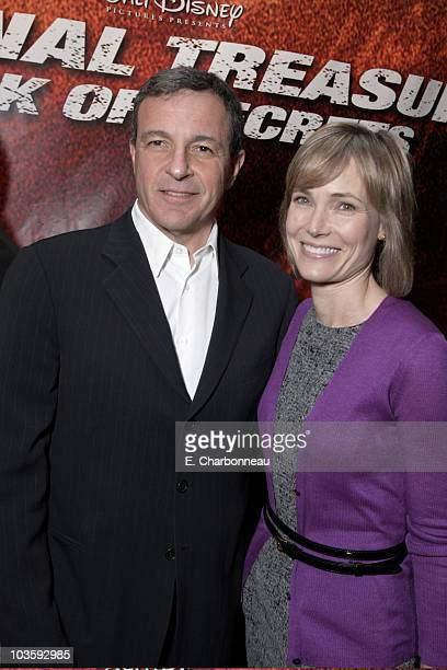Disney's Robert Iger and Willow Bay at the Walt Disney Pictures premiere of National TreasureBook of Secrets on December 13 2007 at the Ziegfeld...