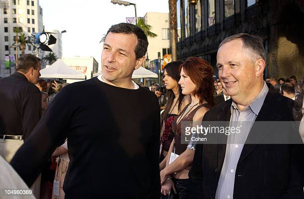 Disney's Robert Iger Richard Cook during The Lizzie McGuire Movie Premiere at The El Capitan Theater in Hollywood California United States