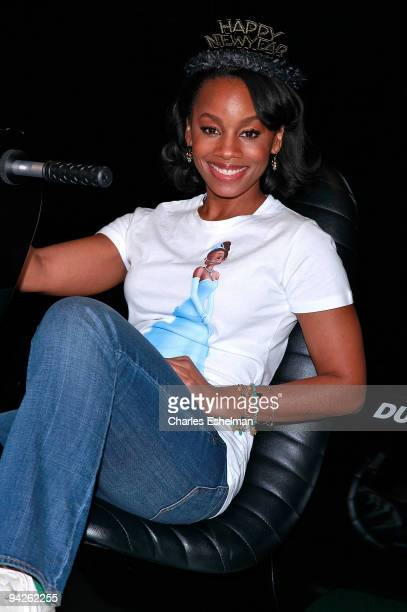"Disney's ""The Princess & the Frog"" actress Anika Noni-Rose visits the Duracell Smart Power Lab in Times Square on December 10, 2009 in New York City."