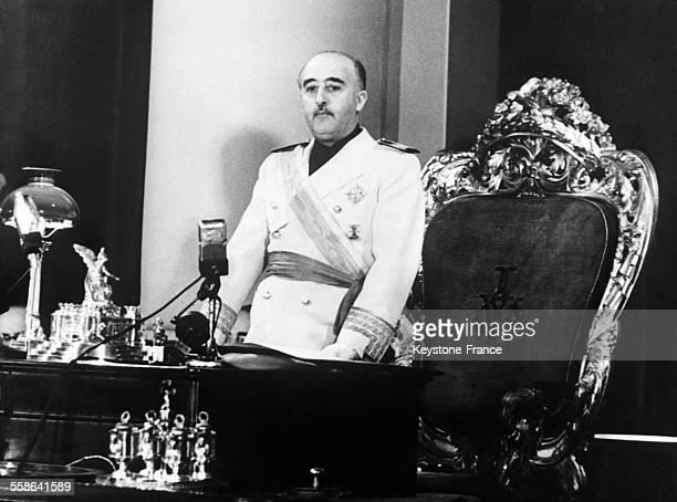 Disours du Général Franco devant les conseillers Nationaux dans lequel il annonce sa décision de réaliser une révolution nationale en Espagne et de...