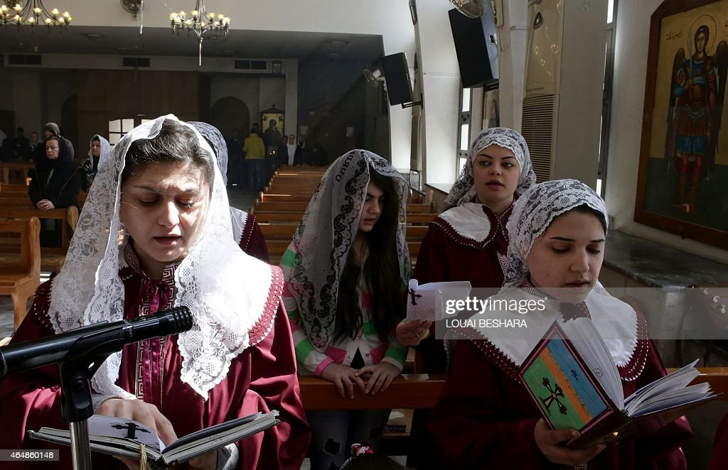 SYRIA-CONFLICT-CHRISTIANS-ASSYRIANS-DISPLACED : News Photo