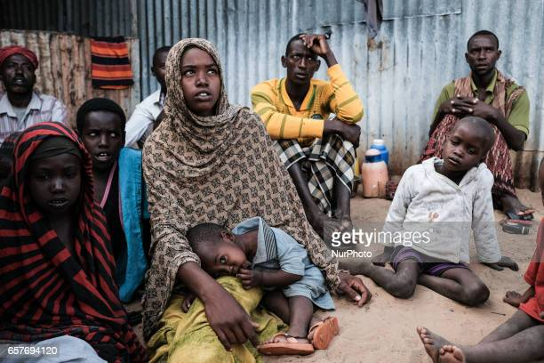 Displaced family which migrated to IDP camp in Mogadishu Somalia in the grip of an unprecedent and devastating food crisis Drought has caused crops...