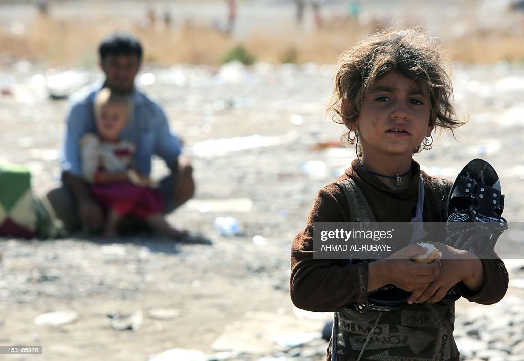 IRAQ-SYRIA-UNREST-YAZIDI-DISPLACED : News Photo