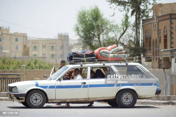 Displaced Yemenis who fled their homes in the wartorn port city of Al Hudaydah arrive in Sanaa as clashes intensify in western coast areas in Sanaa...