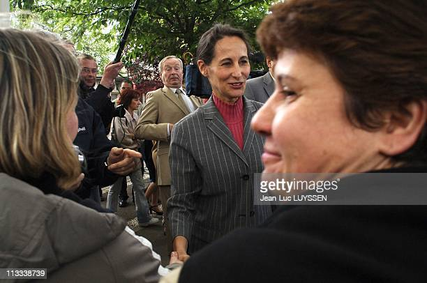 Displacement Of Segolene Royal In Bondy On Seine Sain Denis On May 31St 2006 In Bondy France Here Inauguration Of The House Of Parents Segolene Royal