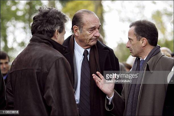 Displacement Of The President Of Republic Jacques Chirac To The Formation Center Of Veolia Environnement On November 24Th 2005 In Jouy Le Moutier...