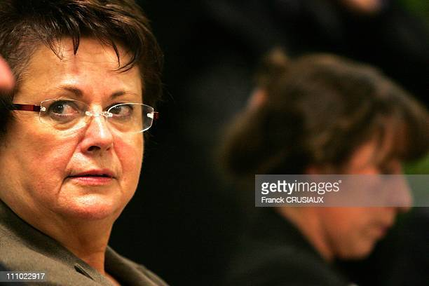 Displacement to Arras in the Plan Compliance and Equal Opportunities of Christine Boutin Minister of Housing and Urban Affairs and of Fadela Amara...