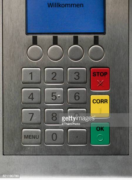 ATM display and keypad