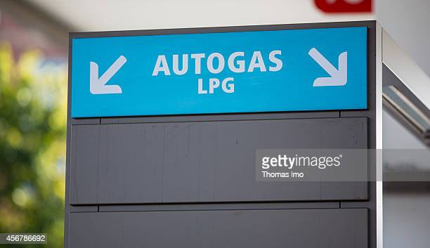Display board for hydrogen Liquefied Petroleum Gas LPG at a multienergy filling station of the oil company Total on September 29 in Berlin Germany...