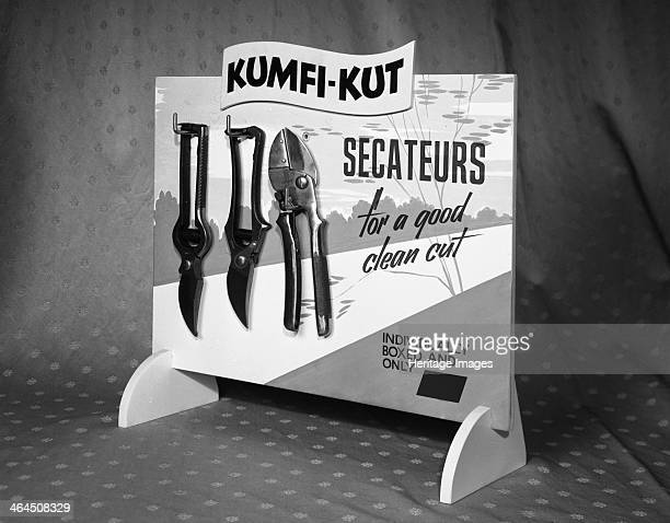 A display board for the KumfiKut range of Secateurs from Champion Scissors who produced the products from their factory in Mexborough South Yorkshire...