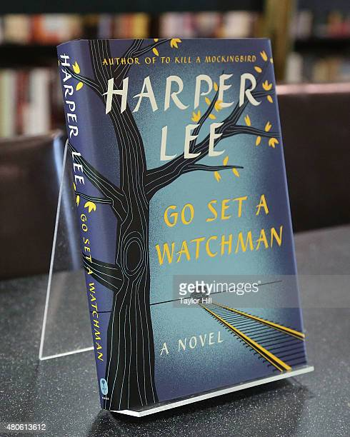 A display copy of Go Set a Watchman the first published novel by To Kill a Mockingbird author Harper Lee in 55 years on the day before its release at...