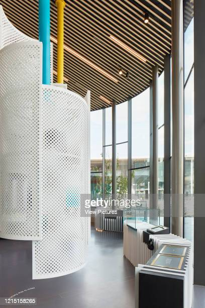Display elements at the Now Gallery. Greenwich Peninsula Exhibition at the Now Gallery, Greenwich, United Kingdom. Architect: Emulsion Architects ,...