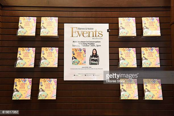 Display for Abbi Jacobson's book Carry This Book at Barnes Noble at The Grove on October 30 2016 in Los Angeles California