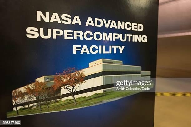 Display for NASA Advanced Supercomputing Facility at NASA Ames Exploration Center a visitor center at the NASA Ames Research Center campus in the...