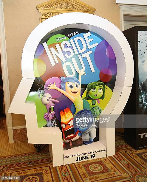 A display for the movie Inside Out at CinemaCon at Caesars Palace on April 20 2015 in Las Vegas Nevada