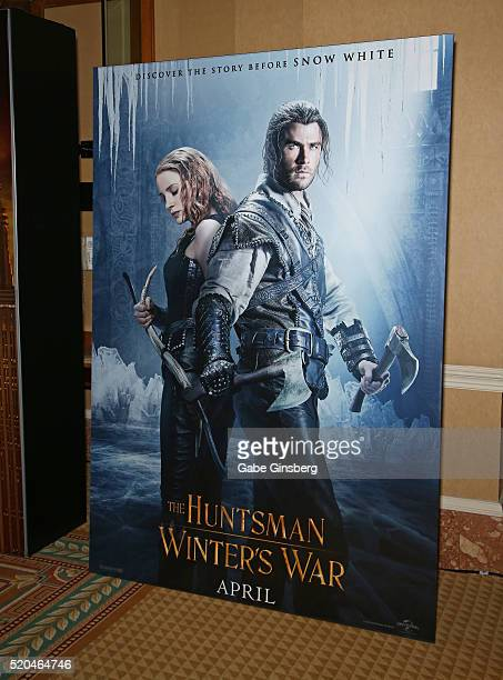 A display for the movie The Huntsman Winter's War at CinemaCon at Caesars Palace on April 11 2016 in Las Vegas Nevada