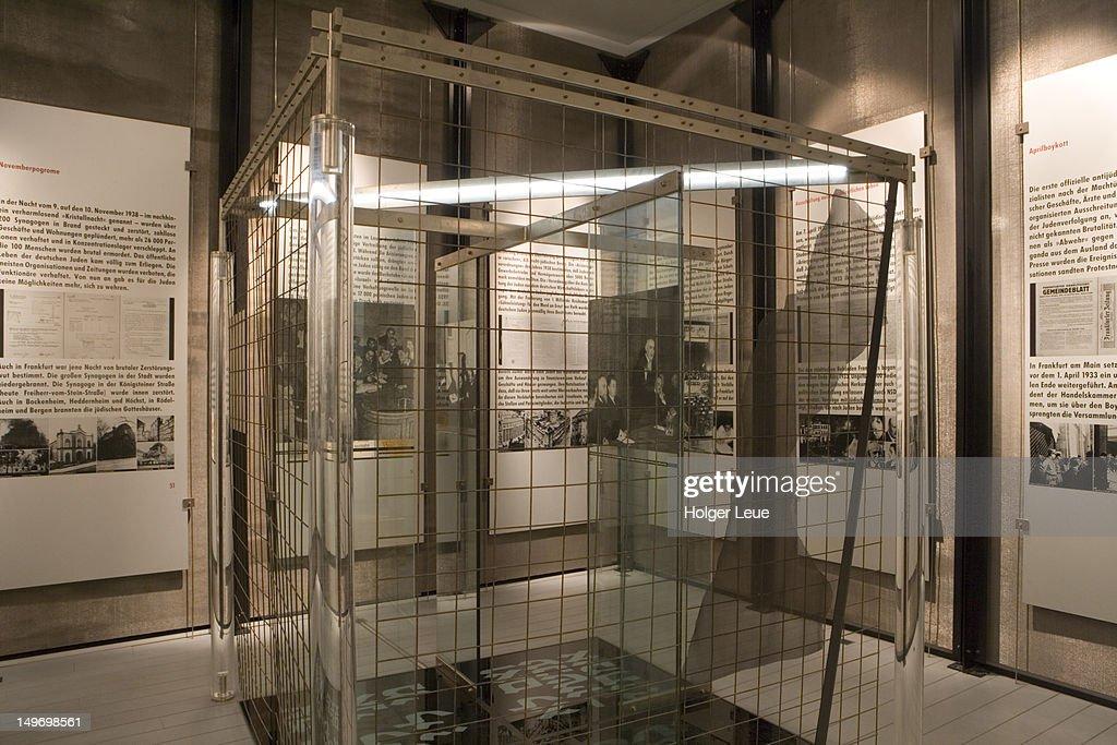 Len Frankfurt display in judisches museum stock photo getty images