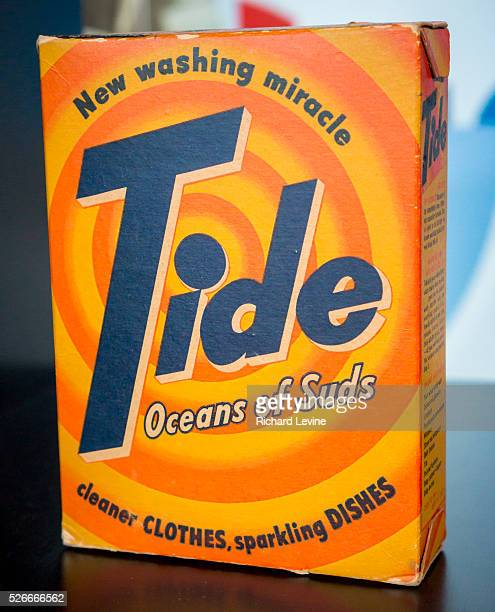 A display of a vintage box of Procter Gamble's Tide detergent in New York on Wednesday June 19 2013 Procter Gamble reported a 35% increase in profits...