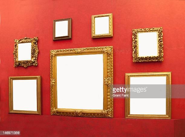 display of blank frames.