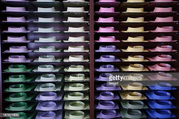 display of colorfull shirts - repetition stock pictures, royalty-free photos & images