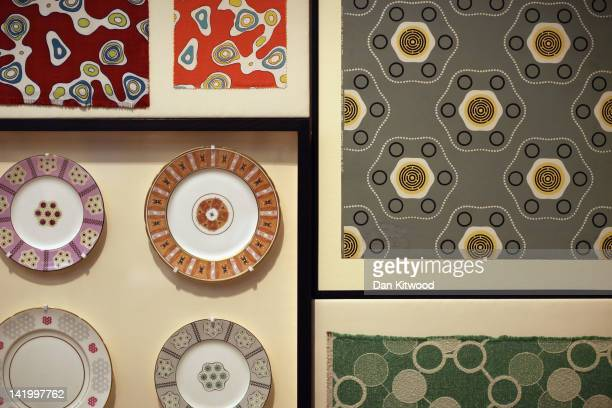 Display of 'Festival Pattern Group' designs are display at the Victoria and Albert museums' new major exhibition, 'British Design 1948-2012:...