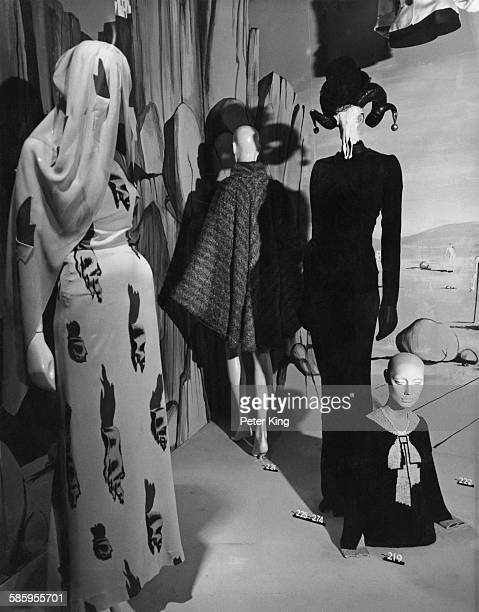 Display of French fashions at the preview of an exhibition of 20th Century fashion at the Victoria and Albert Museum, London 12th October 1971. The...