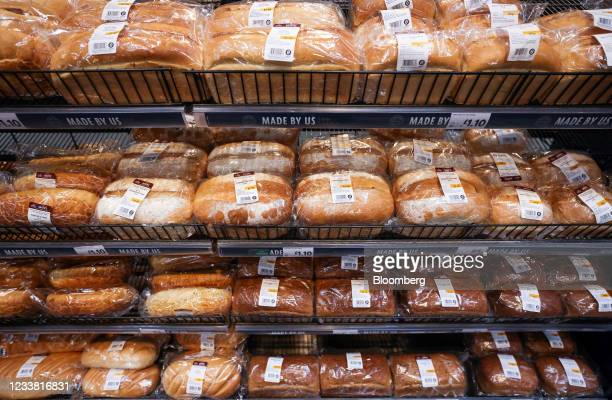 Display of fresh bread in a Morrisons supermarket, operated by Wm Morrison Supermarkets Plc, in Saint Ives, U.K., on Monday, July 5, 2021. Apollo...