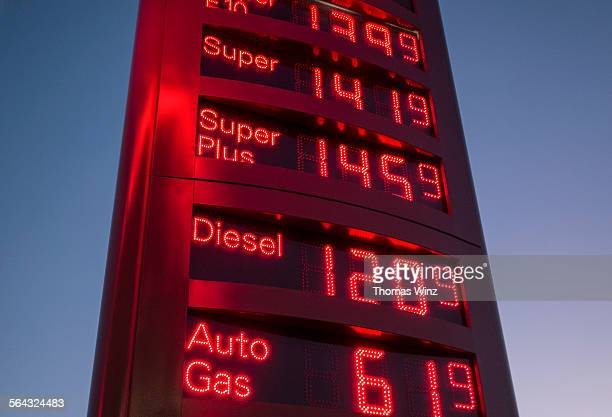Display of fuel prices