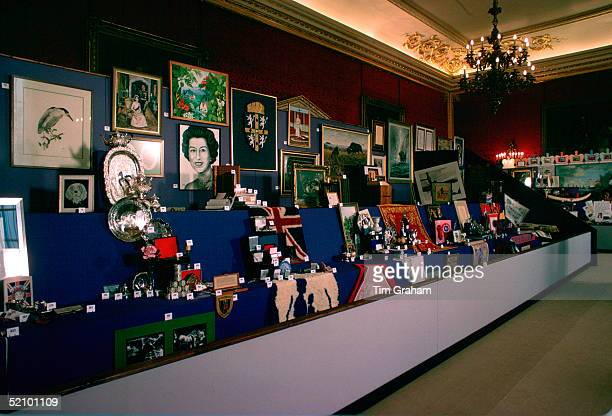 Display Of Gifts Given To The Queen For Her Silver Jubilee On Display In St James's Palace
