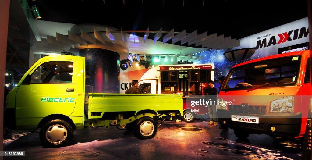 Display Of Mahindra Maximo Commercial Vehicle At 10th Auto Expo On