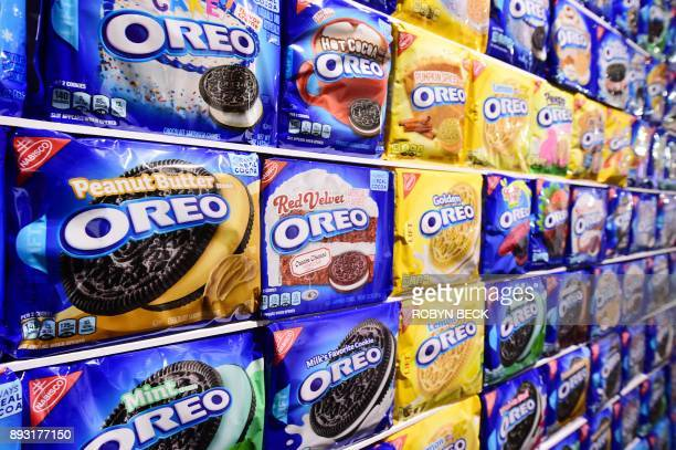 A display of Oreo cookie variations is seen at The Museum of Failure in Los Angeles on December 7 2017 The Museum of Failure at the AD Architecture...