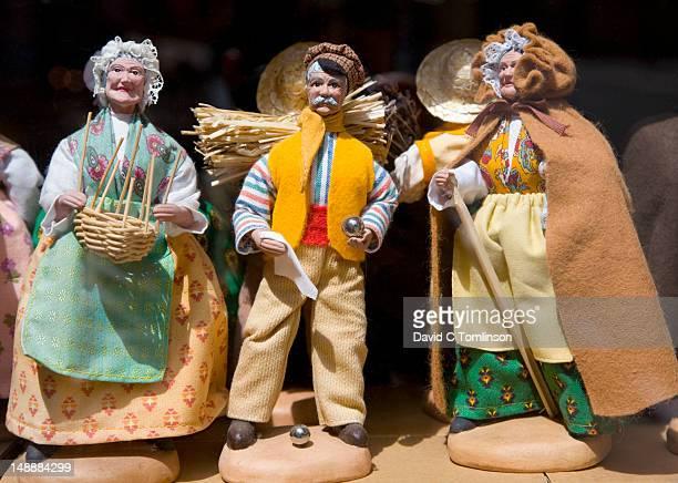 Display of santons (traditional hand-made figures).