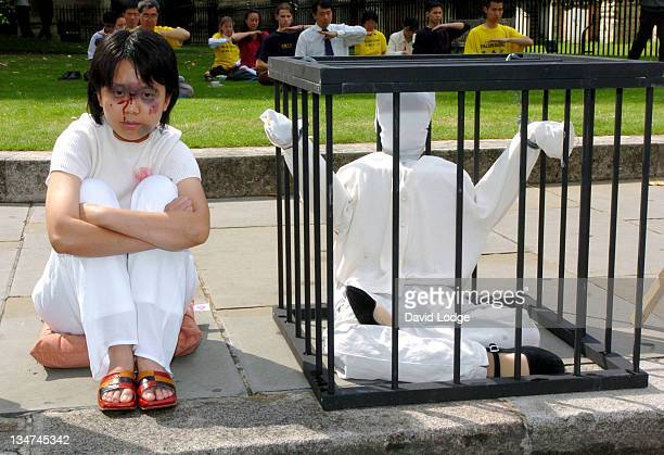 Display of Torture methods used by the Chinese Government on followers of Falun Gong the Chinese meditation and exercise system