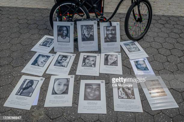Display of victims of gun violence was set at the protest. Gays Against Guns , the direct action, gun violence prevention group formed by members of...