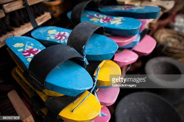 Display of Wooden Clogs