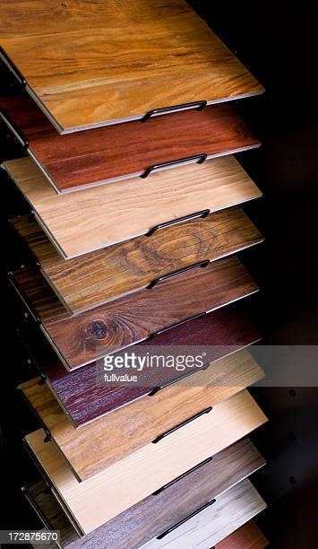 Display Rack of Flooring Laminates
