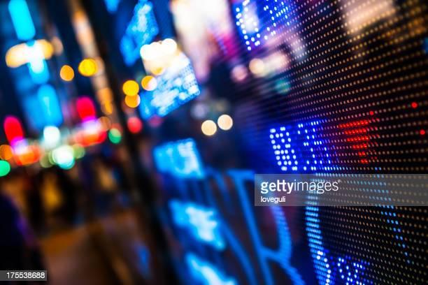 Anzeige stock market Diagrammen