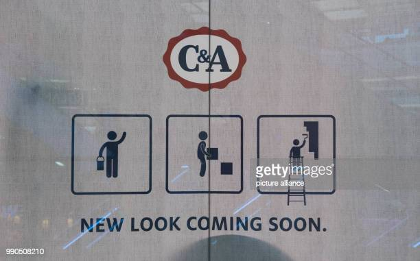 ARCHIVE A display window of a CA branch store is decorated with the announcement New look coming soon in Essen Germany 13 March 2017 Photo Bernd...