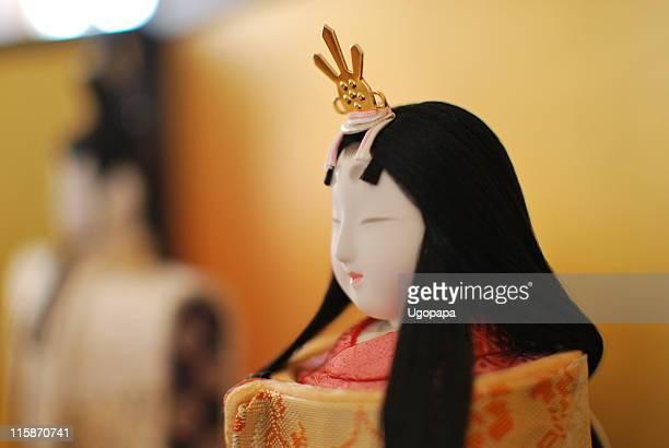 Displayed hina dolls