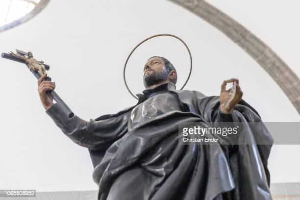 Displaying a sculpture of Francis Xavier inside the hall of the old manor house in Azpeitia Ignatius of Loyola was born here in 1491 Later on the...